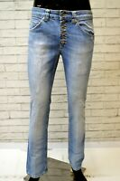 DONDUP SURYA Jeans Slim Fit Blu Uomo Denim Taglia 29 Pants Men Pantalone Skinny
