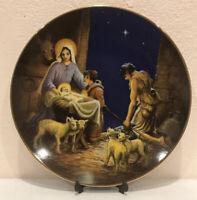 "Vintage Christmas Heritage House Decorative Plate ""Adoration Of The Shepherds"""