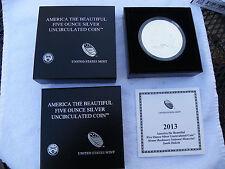 2013-P 5 oz Silver ATB - Mount Rushnore Nat'l Memorial South Dakota w/ Box & COA