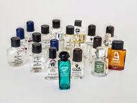 Mini Miniature Glass PERFUME Bottles Lot of 21 (11 DIFFERENT) Empty Bottles