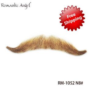 100% Human Hair Handmade Fake Mustache Beard for Entertainment/Drama/Life