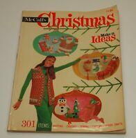 1969 McCall's CHRISTMAS MAKE IT IDEAS Magazine Knitting Crochet Sewing Cooking