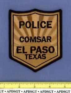 EL PASO COMSAR COMBINED SEARCH & RESCUE TEXAS Sheriff Police Patch SAR
