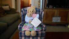 "Hallmark ""Hyacith and Cuddlesworth"" Girl Bear Cuddling Teddy Bear  CUTE!!!"