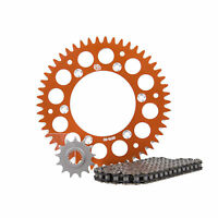 Primary Drive Alloy Kit & X-Ring Chain Orange Rear Sprocket