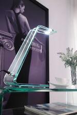 Schreibtischlampe NIZZA Leselampe LED Design Leuchte aus Glas Touch Tischlampe