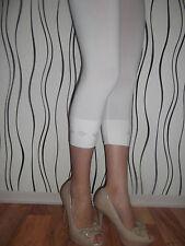 Damen Capri Leggings  3/4 Kurz Dreiviertel*WEISS* Leggins Legging Gr.XL/XXL