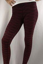 NIKE Legendary Women's Leggings Pants Red Black Stripes 725077 $115 Size L