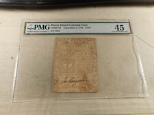 September 5, 1776 Rhode Island Colonial Note $ 1/16 PMG 45 Choice Extremely Fine