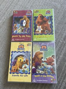 Bear In The Big Blue House VHS Lot x4 Used