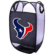HOUSTON TEXANS NFL TEAM PORTABLE POP UP LAUNDRY BASKET MESH HAMPER BIN BAG