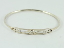 Charles Rennie Mackintosh Bangle Sterling Silver Ladies Bracelet 925 8.8g Fy41
