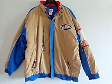 NASCAR 2000 Winter Jacket with Hood Mens XXL Beige Blue