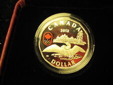 "Canada 2012 ""LUCKY LOONIE"" 25 Years Of The Loonie Coin-99.99% Fine Silver"