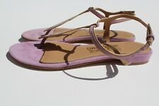 NEW AUTHENTIC SALVATORE FERRAGAMO WOMEN LEATHER SANDALS SIZE 6.5 M