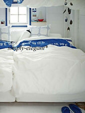 NEW Nautical Duvet Cover Quilt Cover 2/3 pc set IKEA Cottage Lisel White Blue