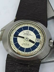 VINTAG OMEGA DYNAMIC CAL 681 AUTOMATIC SWISS WATCH Ω WOMEN STEEL 31mm FOR REPAIR