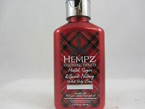 HEMPZ MINTED SUGAR & SPICED NUTMEG BODY CREME MOISTURIZER LOTION MINI 2.25 OZ