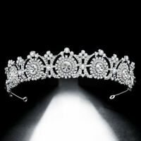 Vintage Princess Tiara Rhinestone Wedding Crown Bridal Hair Accessory