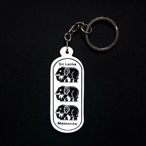 Sri Lanka wooden Elephant Key Tag/Key chain Hand Made Traditional Wooden Carving