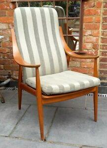 Danish Chair by Peter Hvidt & Orla Molgaard-Nielsen Mid Century, Vintage, Retro