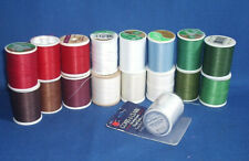 Lot (17) Spools Assorted Color Hand Quilting Thread - Some Partially Used