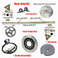 Go Kart Rear Axle Kit Hydraulic Brake Master Cylinder Rotor Chain Bearing Block