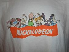 Vintage 90s Nickelodeon Ren Stimpy Doug Rugrats Real Monsters Rocko T-Shirt M
