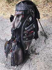 lg mens nike 14 divider golf cart bag black n gray pre owned