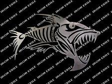 Fish Skeleton Skull Metal Art Garage Piranha Hot Rat Rod Motorcycle Punk