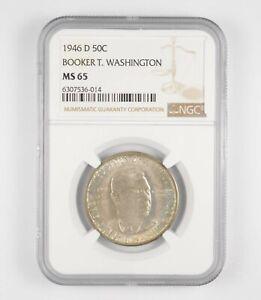MS65 1946-D Booker T. Washington Commemorative Half Dollar - Graded NGC *025