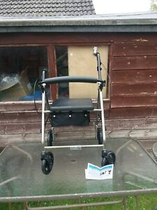 NRS healthcare folding mobility walker rollator with 4 wheels and seat