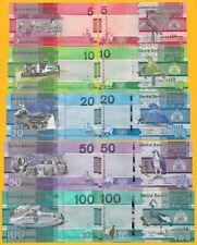 Gambia Set 5, 10, 20, 50, 100 Dalasis p-new 2019 UNC Banknotes