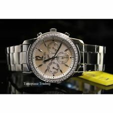 Graue Armbanduhren aus Edelstahl für Damen