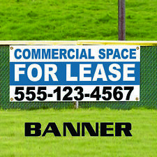 Commercial Space For Lease Plastic Novelty Indoor Outdoor Vinyl Banner Sign