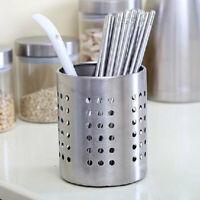 Cutlery Holder Drainer Storage Spoon Tableware Organizer Rack Stainless-Steel