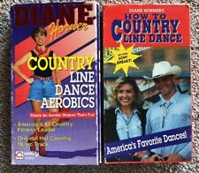 DIANE HORNER COUNTRY LINE DANCE AEROBICS & HOW TO COUNTRY LINE DANCE 2 VHS LOT!