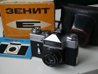 ZENIT E 35mm SLR Film Camera Industar 50-2 lens Original Box