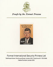 Antigua 4266 - 1984 KENNEDY 60c imperf on Format International PROOF  CARD