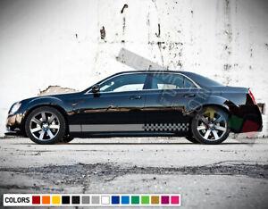 Sticker stripe Decals for Chrysler 300 mirror tail bonnet lock cover kit Antenna
