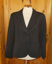 AQUASCUTUM LONDON charcoal dark grey WOOL tailored suit jacket BNWOT 14R 42