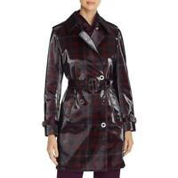 Elie Tahari Womens Natania Coated Flannel Lined Trench Coat Outerwear BHFO 2033