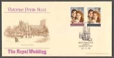 1986 ROYAL WEDDING SET ON BRADBURY VP14 FDC