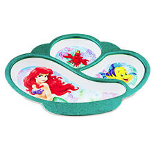 DISNEY STORE ARIEL LITTLE MERMAID FRIENDS MEALTIME MAGIC DIVIDER PLATE FREE SHIP