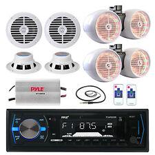 "LED 6.5"" Tower Speakers, Amplifier, 6.5"" Speakers, Antenna, Pyle Bluetooth Radio"