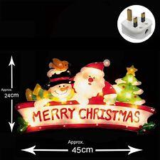 Light Up INDOOR Christmas Window Silhouette - Merry Christmas