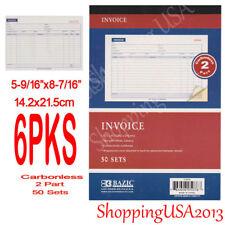 6 Pieces 2 Part Carbonlesas Sales Order Books Receipt Form Invoice 50 Set new