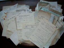 85 x Documents/Letters Etc. Some Railway Co'S + Worsley + Grantham Etc.