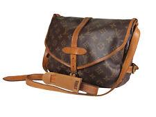 LOUIS VUITTON Saumur 30 Monogram Canvas Leather Crossbody Shoulder Bag LS3432