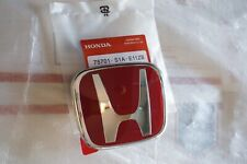 NSX S2000 Prelude RSX Front Rear Honda JDM Red H Emblem Badge Type R AP1 AP2 BB7